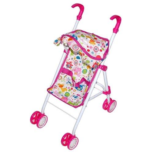 Купить Прогулочная коляска Mary Poppins Фантазия складная с тентом 67324 малиновая, Коляски для кукол