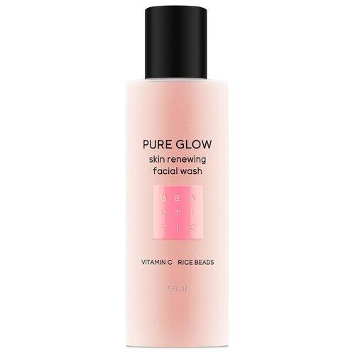 BEAUTIFIC Гель-скраб для умывания Pure Glow обновляющий с витамином С и низким pH 150 мл 1 шт.