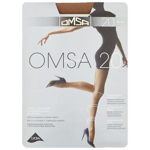 Колготки Omsa Omsa 20 den, размер 4-L, daino (бежевый) колготки glamour edera 20 den размер 4 l daino бежевый