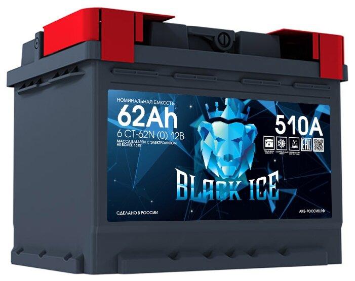 Аккумулятор BLACK ICE 6СТ-62.0 ёмкость 62 Ач обратная полярность 0 - BI6201 — купить по выгодной цене на Яндекс.Маркете