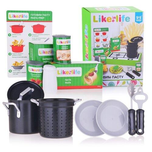 цена Набор продуктов с посудой S+S Toys Готовим пасту 200152767 зеленый/черный/серый онлайн в 2017 году