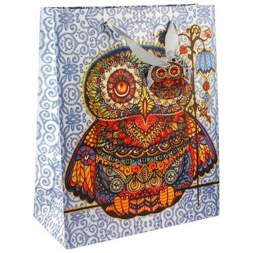 Пакет подарочный Perfect Craft Волшебная сова 26 х 32 х 12 см синий