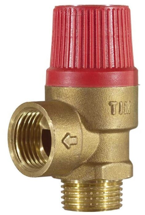 Предохранительный клапан Tim BL22MF-K-1.5bar муфтовый (ВР/НР), латунь, 1.5 бар, Ду 15 (1/2