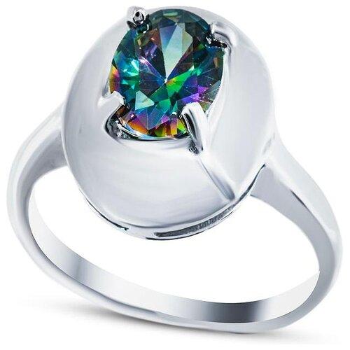 Silver WINGS Кольцо с кварцами из серебра 210019-70-257, размер 18