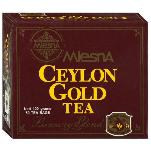 Чай черный Mlesna Сeylon gold в пакетиках, 50 шт. чай зеленый mlesna в пакетиках 50 шт