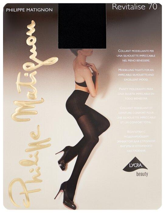 Колготки Philippe Matignon Revitalise 70 den, размер 2-S, nero (черный)