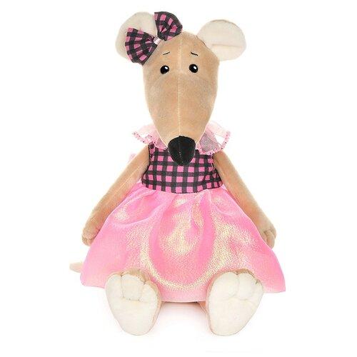 Купить Мягкая игрушка Maxitoys Крыса Анфиса в платье с бантом 21 см, Мягкие игрушки