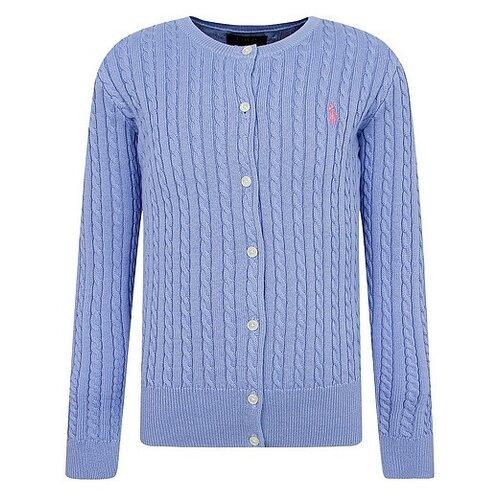 Купить Кардиган Ralph Lauren размер 92, голубой, Джемперы и толстовки