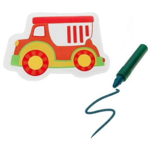 Купить Набор для ванной Крошка Я Машинка + водный карандаш (3045305) красный/зеленый, Игрушки для ванной