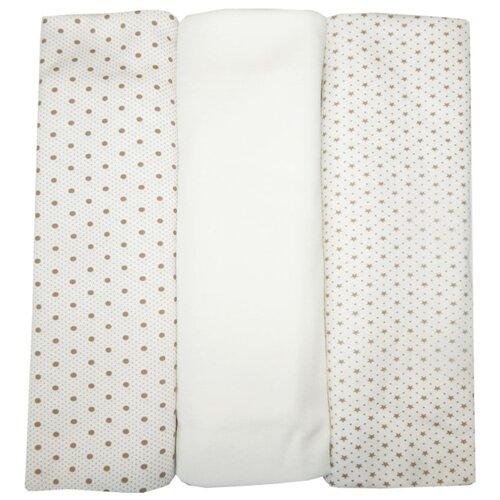 Купить Многоразовые пеленки Папитто интерлок 120х90 набор 3 шт. бежевый, Пеленки, клеенки