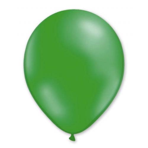 Набор воздушных шаров MILAND Металлик 21 см (100 шт.) темно-зеленый