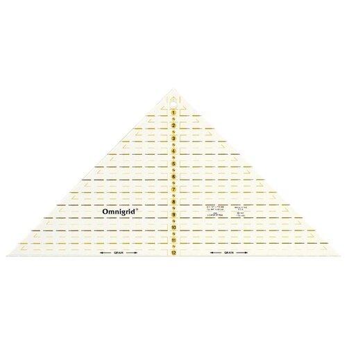 Фото - Prym Omnigrid Линейка для пэчворка Проворный треугольник 611483 12 прозрачный gamma линейка для пэчворка