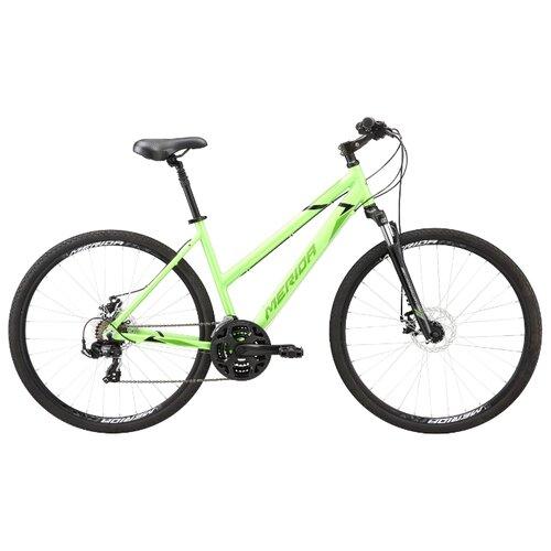 Горный гибрид Merida Crossway L 10-MD (2020) green/green M (требует финальной сборки) велосипед merida crossway 20 md 2013
