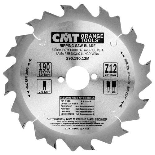 Пильный диск CMT 290.190.12M 190х30 мм пильный диск vmx 512472 190х30 мм