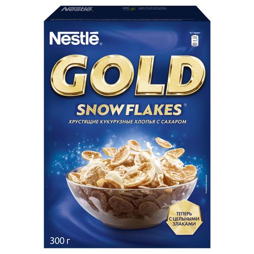 Готовый завтрак Nestle Gold Snow Flakes хлопья, коробка, 300 г nestle gold snow flakes готовый завтрак 300 г