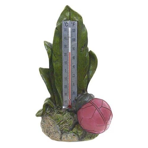 Садовая фигура ENS Божья коровка зеленый/красный ,20 см
