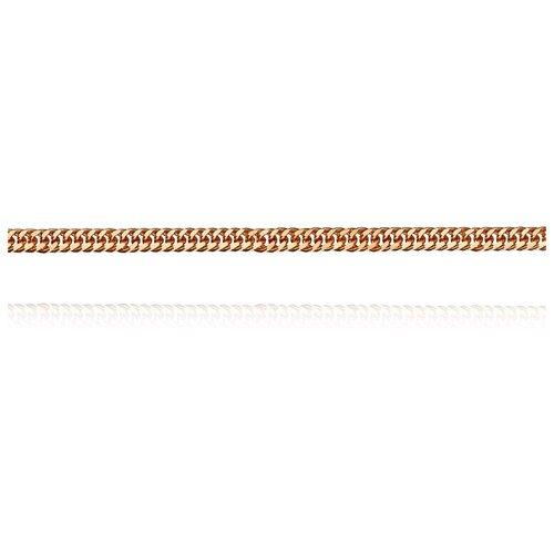 АДАМАС Цепь из золота плетения Панцирь одинарный ЦП225А2-А51, 40 см, 1.68 г