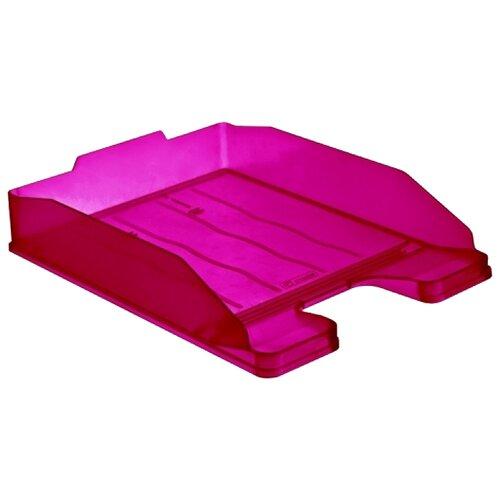 Купить Лоток горизонтальный для бумаги СТАММ Эксперт тонированный фиолетовый слива, Лотки для бумаги
