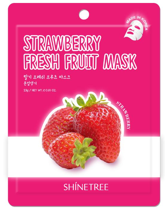 Shinetree Тканевая маска с экстрактом клубники Strawberry Fresh Fruit