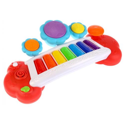 Купить Умка пианино B1524359-R разноцветный, Детские музыкальные инструменты