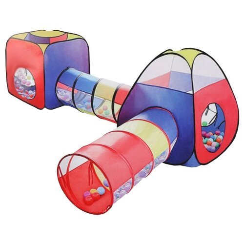 Палатка Наша игрушка Комплекс 985-Q74 синий/красный/желтый игрушка