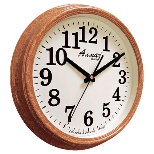 Часы настенные кварцевые Алмаз A79-A85 бежевый/белый часы настенные кварцевые алмаз a79 a85 бежевый белый