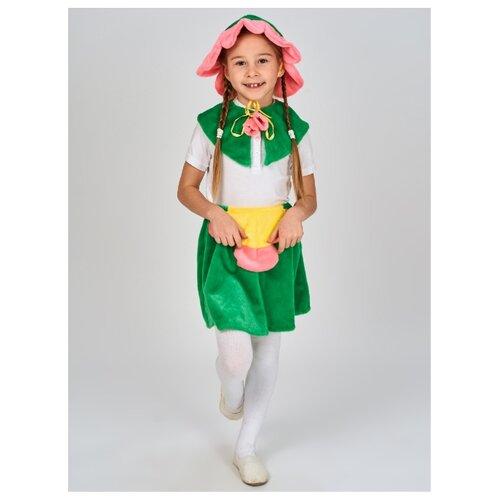 Купить Костюм Радомир Цветок (С1030), зеленый, размер 104-134, Карнавальные костюмы
