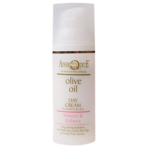 Aphrodite Olive oil day cream Moisture & Radiance Крем дневной для лица Увлажнение и сияние, 50 мл chi luxury black seed oil curl defining cream gel