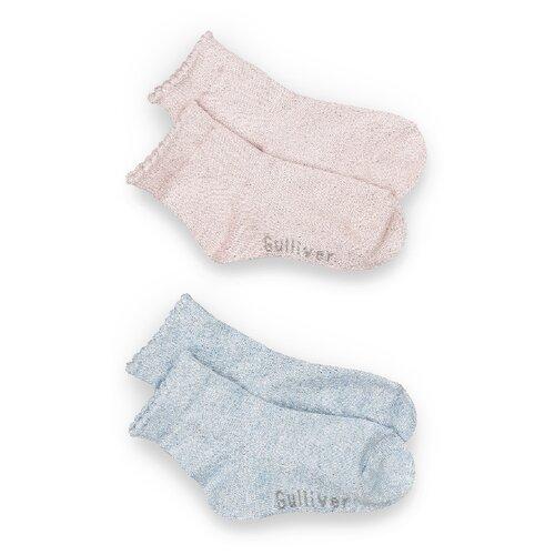 Купить Носки Gulliver Baby комплект из 2 пар, размер 12-14, розовый/голубой