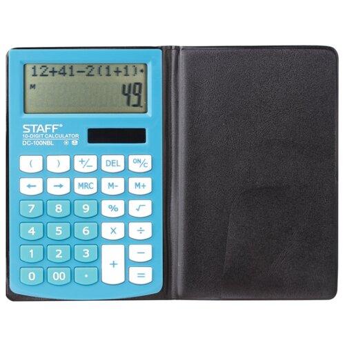 Купить Калькулятор карманный STAFF PLUS DC-100NBL голубой