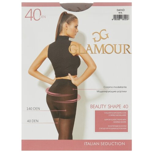 Колготки Glamour Beauty Shape 40 den, размер 5-XL, daino (бежевый) колготки glamour prestige 40 daino