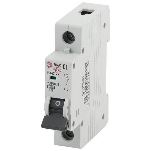 Автоматический выключатель ЭРА Pro ВА 47-29 1P (C) 4,5kA 63 А выключатель автоматический однополюсный 6а c 4 5ka ва 47 63 ekf proxima