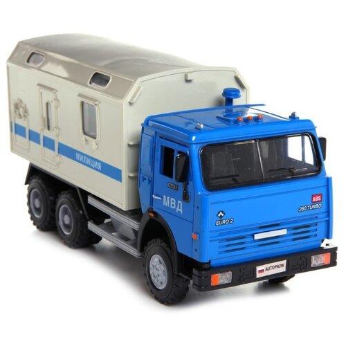 цена на Грузовик Joy Toy Автопарк 6520 Милиция (A532-H36015) 1:43 20 см синий/серый