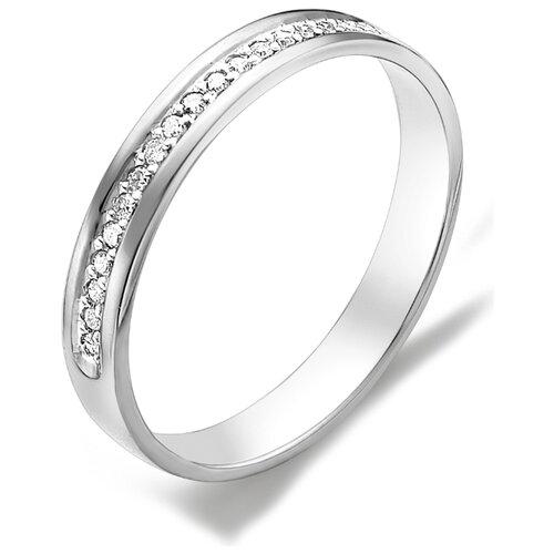 АЛЬКОР Кольцо с бриллиантами из белого золота 585 пробы 12015-200, размер 20 алькор кольцо с бриллиантами из белого золота 585 пробы 12015 200 размер 19 5