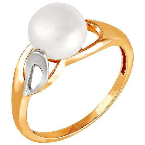 Фото - ПримаЭксклюзив Кольцо с 1 жемчугом из красного золота 190-1-638Р, размер 17 примаэксклюзив кольцо с 1 жемчугом из красного золота 190 1 921р размер 17