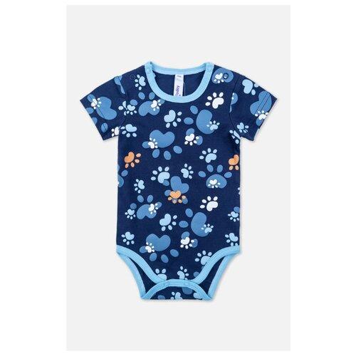 Боди playToday размер 56, темно-синий/голубой/белый песочник playtoday размер 56 голубой темно синий