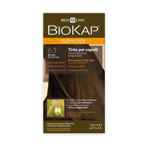 BioKap Nutricolor крем-краска для волос, 6.3 темно-золотистый блондин