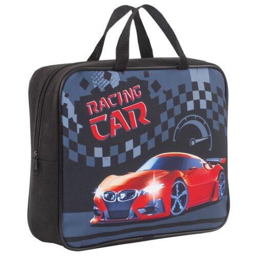 Фото - BRAUBERG Папка для тетрадей на молнии с ручками Racing Car, А4, 1 отделение, ткань, 80 мм черный/красный brauberg сумка для обуви racing car 229171 черный