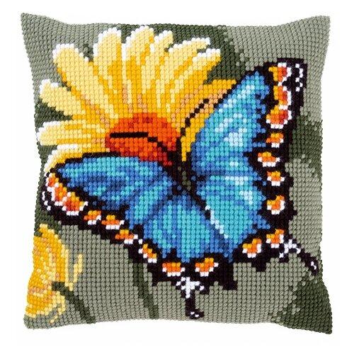 Купить Vervaco Набор для вышивания Бабочка и желтый цветок 40 х 40 см (0156041-PN), Наборы для вышивания