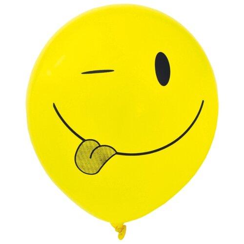 Набор воздушных шаров Action! Смайлы (5 шт.) желтый