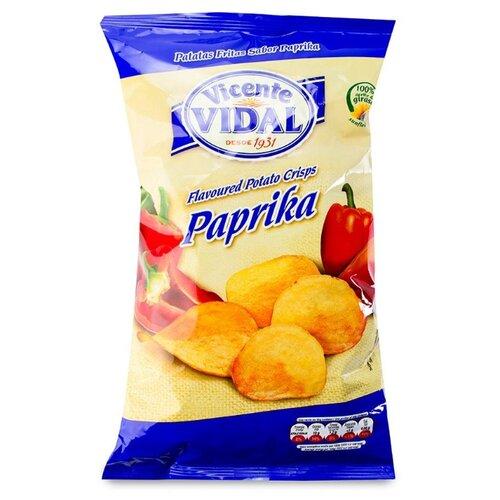 Чипсы Vicente VIDAL картофельные с паприкой, 135 г недорого