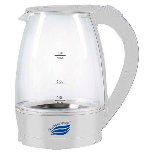 Чайник Великие реки Дон-1, белый чайник электрический великие реки дон 1 1850вт белый