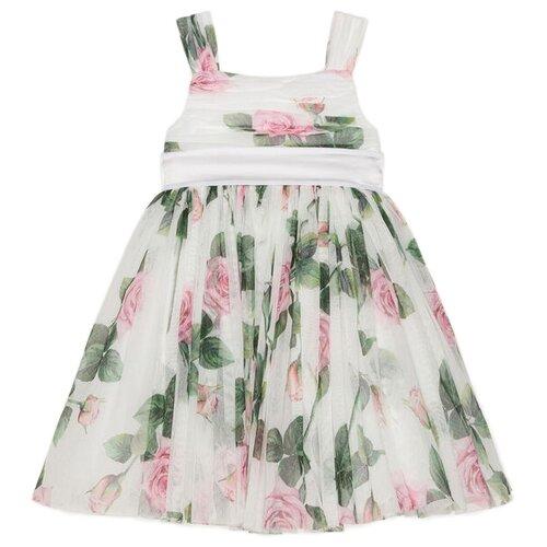 Платье DOLCE & GABBANA размер 92, белый/цветочный принт