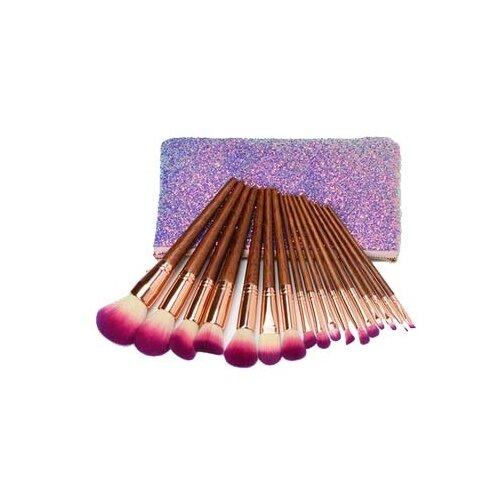 Набор кистей Bdvaro 2212345680016, 17 шт. розовый/коричневый/фиолетовый