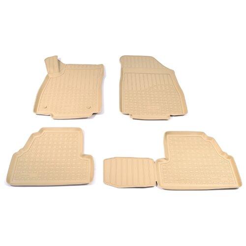 Комплект ковриков NorPlast NPA11-C63-580 4 шт. бежевый