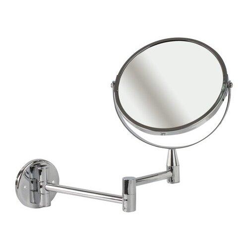 Купить Зеркало косметическое настенное Brabix 604952 серебристый
