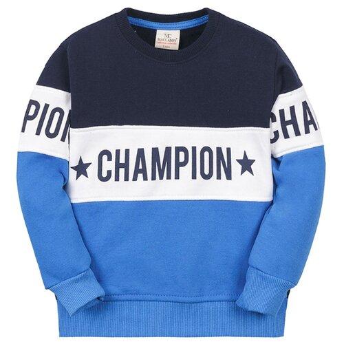 Купить Свитшот Maccaboy размер 86, темно-синий/голубой, Джемперы и толстовки
