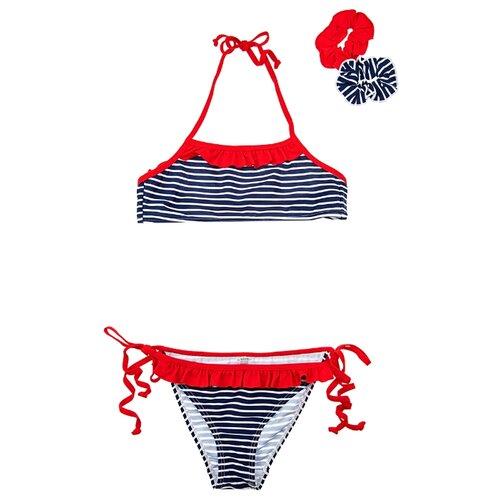Купальник playToday размер 122-128, красный/белый/черный платье oodji ultra цвет красный белый 14001071 13 46148 4512s размер xs 42 170