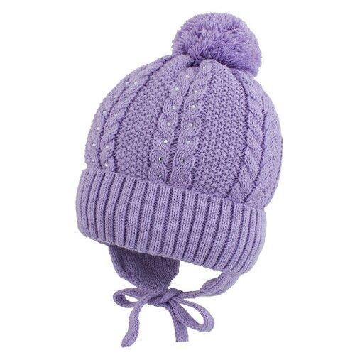 Шапка Prikinder размер 44-46, сиреневый шапка playtoday размер 46 сиреневый