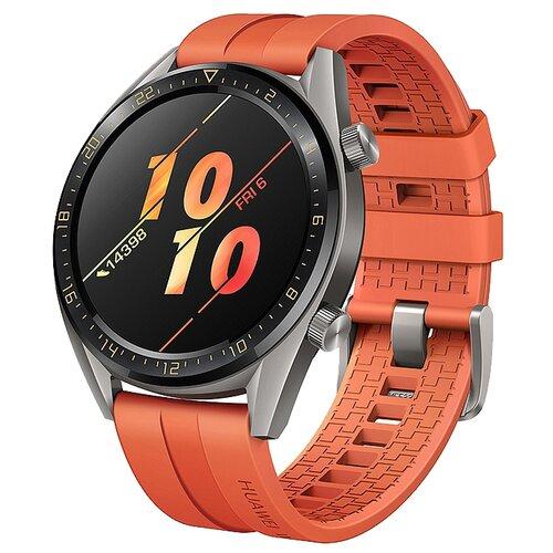 Умные часы c GPS HUAWEI Watch GT Active оранжевый умные часы c gps huawei watch gt classic коричневый